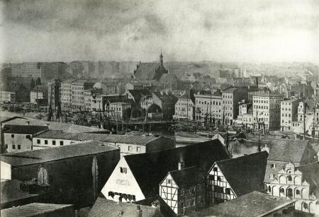 1cz. panoramy miasta z k.św.Jana; przed 1870 (MNS/A.Foto/15523; Szczecin)