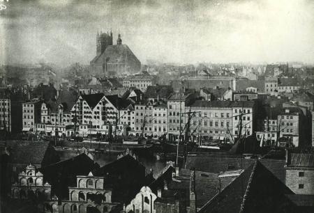 2cz. panoramy miasta z k.św.Jakuba; przed 1870 (MNS/A.Foto/13648; Szczecin)
