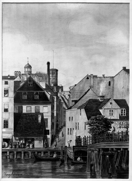 Most i ul.Kłodna; akw. T.Kugelmann, ok.1865 (MNS/A.Foto/5320; Szczecin)