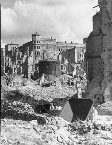 Zburzony Zamek i baszta 7-płaszczy (MNS/A.Foto/13532 A2; Szczecin)